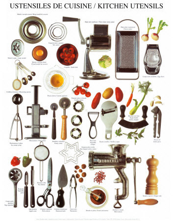 Essential kitchen tools and equipment - Ustensile de cuisine vintage ...